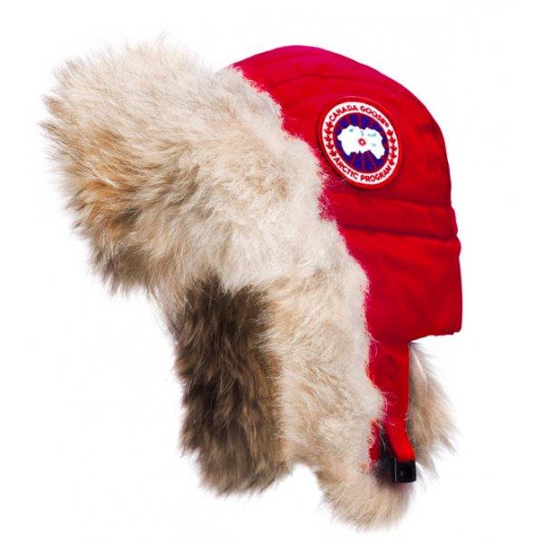 Canada Goose Red Aviator Hat