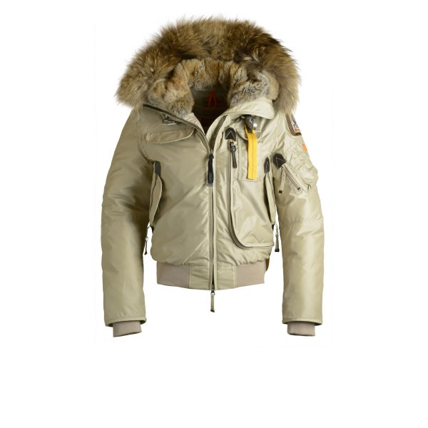 Parajumpers Gobi Womens Down Bomber Jacket In Sand