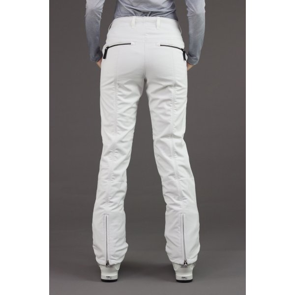 Bogner Nikka Womens Softshell Ski Pant In White And Silver