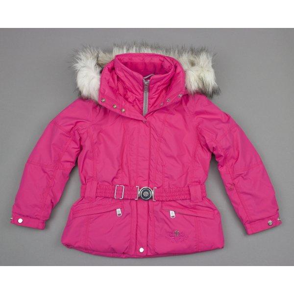 Poivre Blanc Junior Girls Belted Ski Jacket In Magnolia