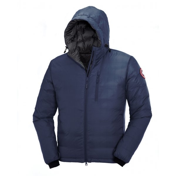 Canada Goose Lodge Hoody Mens Ski Jacket In Spirit Blue