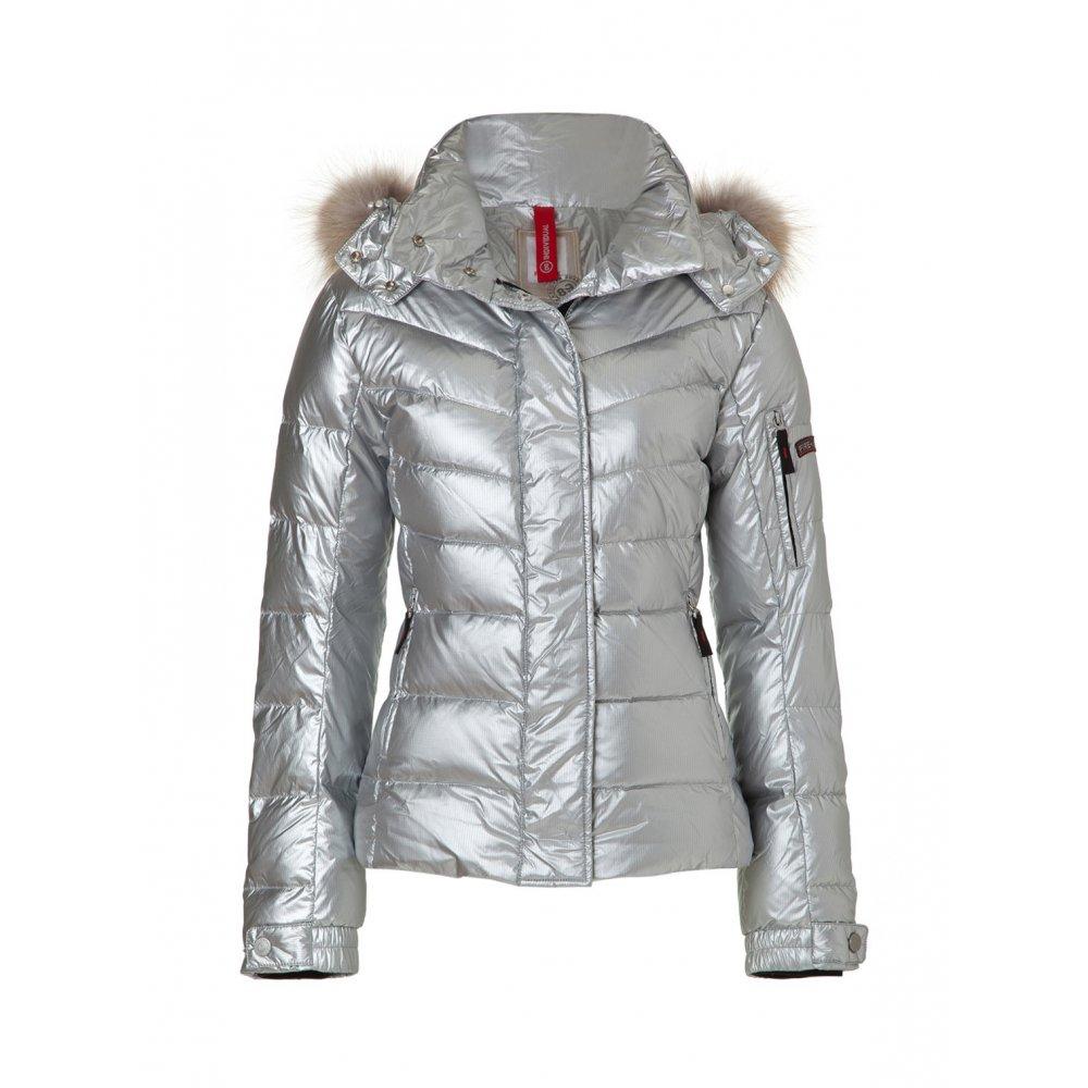 bogner sale d womens ski jacket in silver. Black Bedroom Furniture Sets. Home Design Ideas
