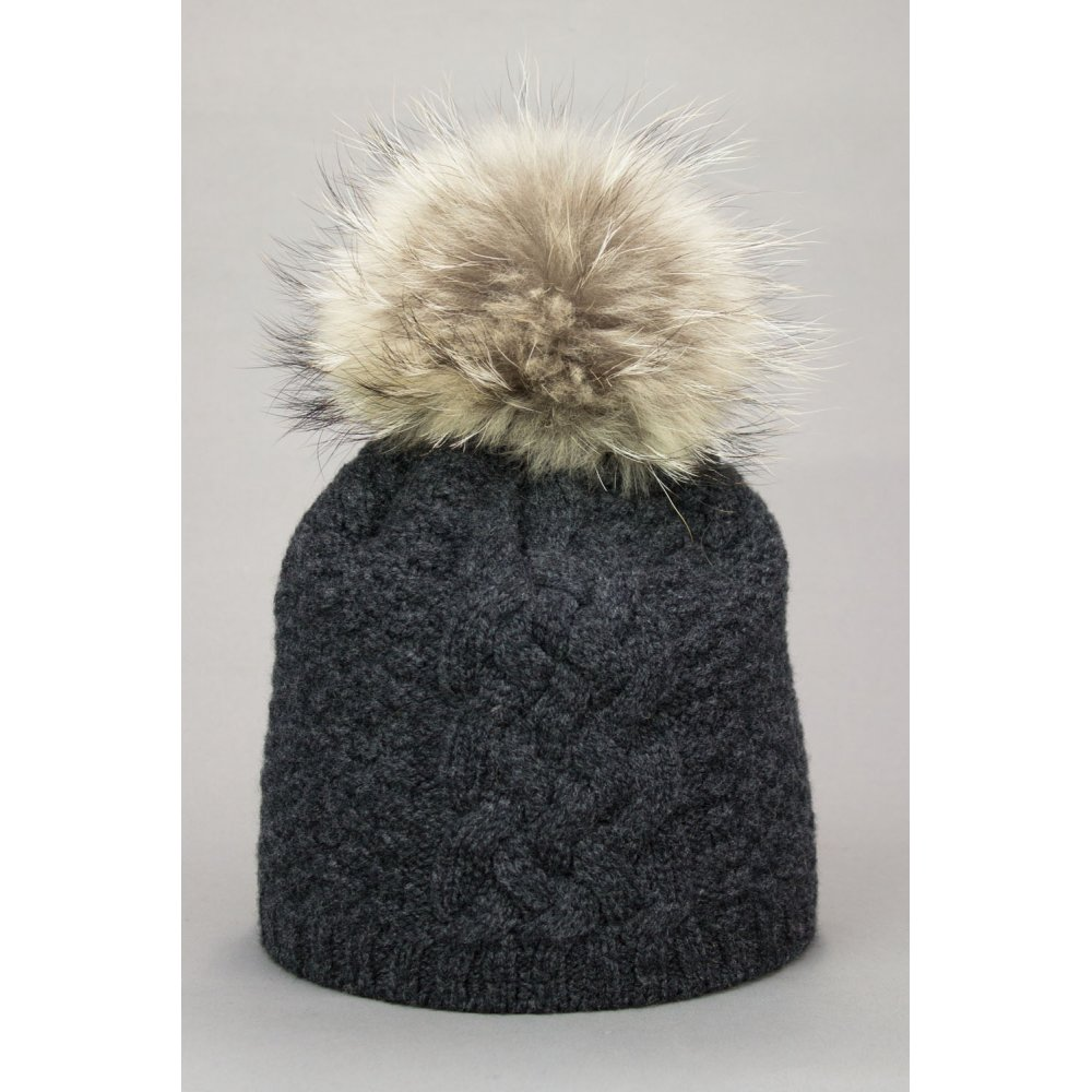 Steffner Monte Womens Ski Hat In Charcoal