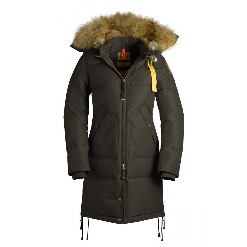 Parajumpers Long Bear Womens Down Winter Coat in Olive