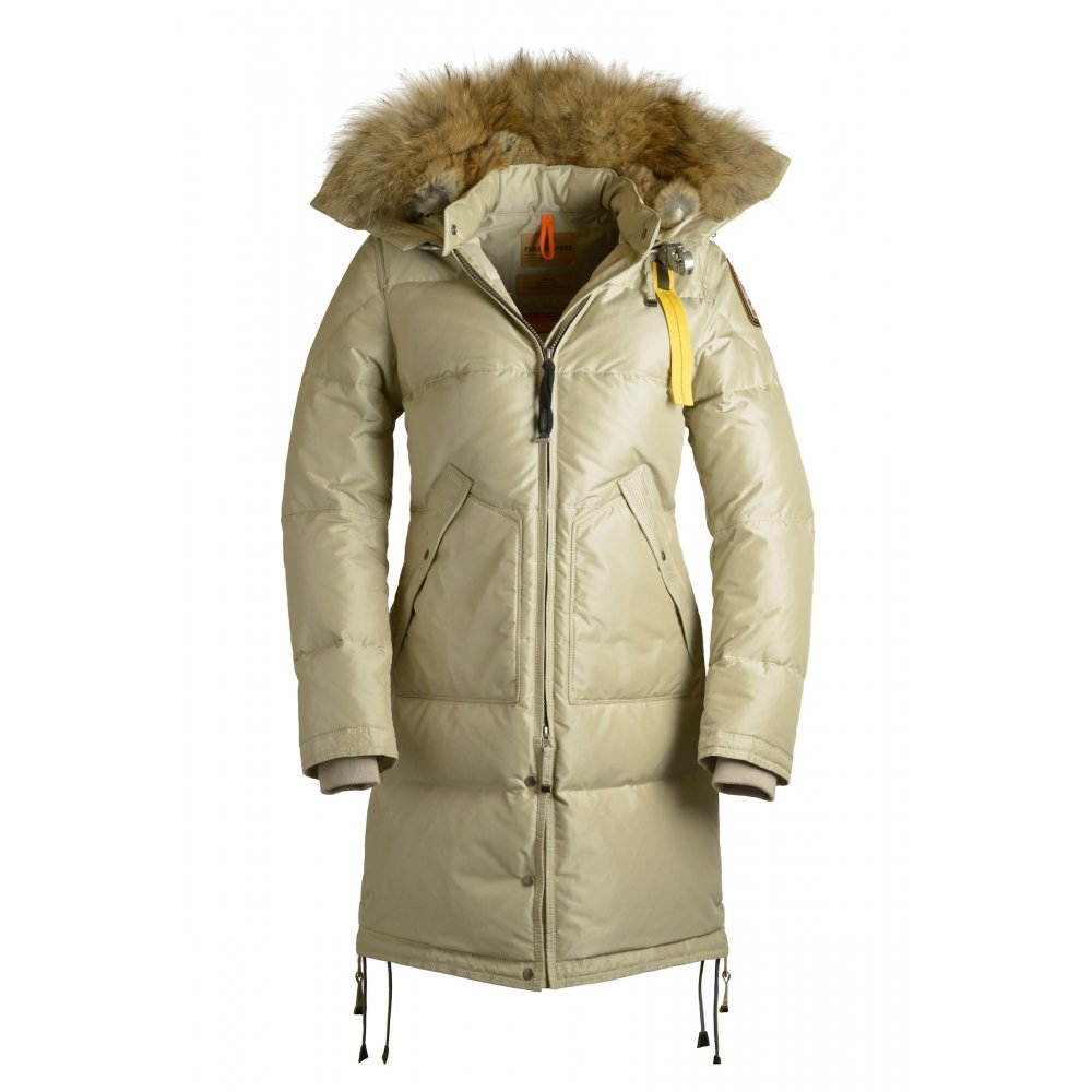 Parajumpers Long Bear Womens Down Winter Coat In Sand