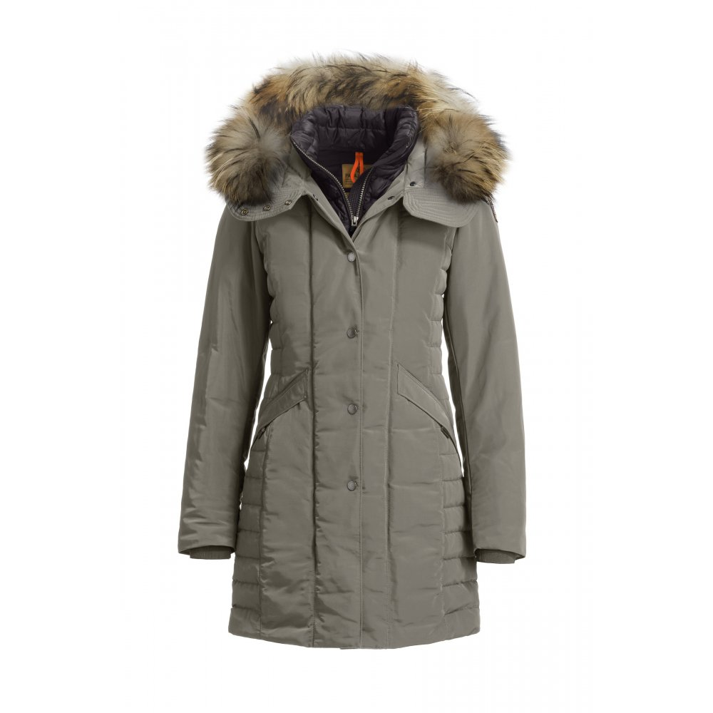 parajumpers angie womens down winter coat in sage