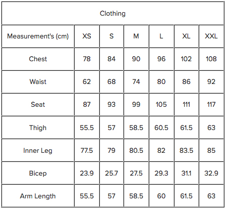 J. Lindeberg Womens Sizing