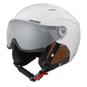 Bolle Backline Visor Premium Ski Helmet in Shiny Galaxy White