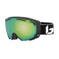 Bolle Supreme OTG Ski Goggle in Matte Black with Phantom Green Emerald Lens