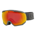 Bolle Northstar Ski Goggle in Matte Grey Squares with Phantom Fire Red