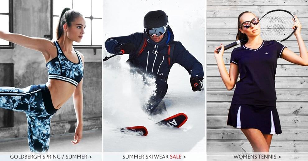 womens tennis wear, ski sale, goldbergh spring