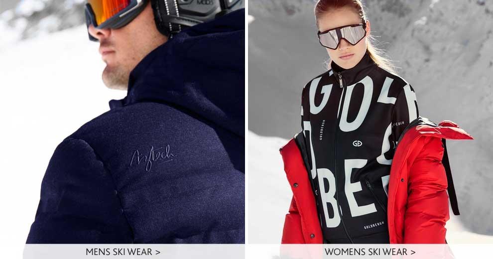MENS AND WOMENS SKI WEAR BANNER LINKSMens Aztech Ski Wear | Womens Goldbergh Ski Wear