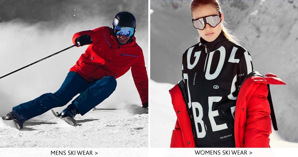 Mens and womens ski wear-  kjus and Goldbergh