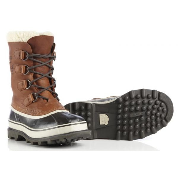 Sorel Caribou Wool Mens Winter Boot In Tobacco