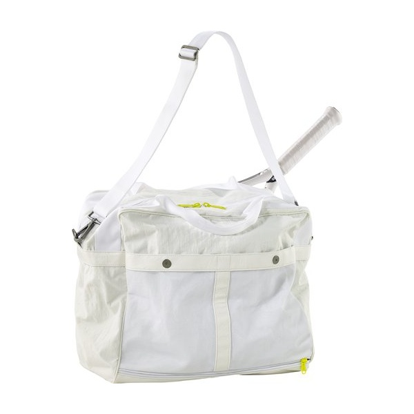 Adidas Stella Mccartney Adidas Stella McCartney Tennis Bag in White and Run  Yellow e4c247c2c3