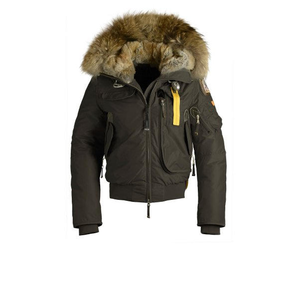Parajumpers Gobi Womens Down Bomber Jacket In Olive