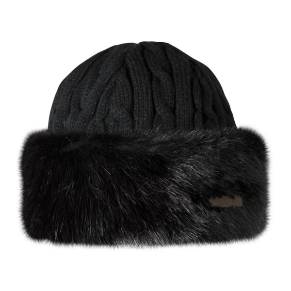 276c6ece11a Barts Fur Cable Bandhat Ski Hat in Black