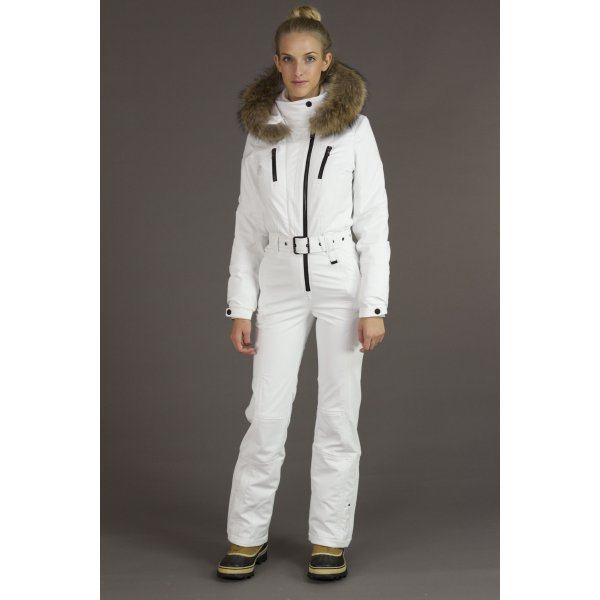 Poivre Blanc Womens One Piece Ski Suit in White