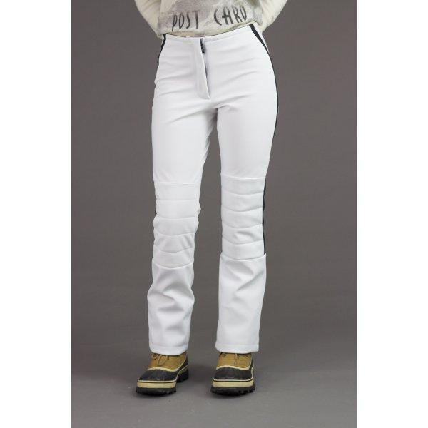 postcard gleason womens ski pant in white