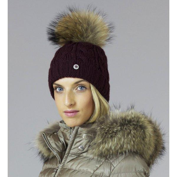 Bogner Drew Womens Designer Ski Hat in Burgundy dc25a1273fa