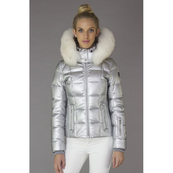 Bogner Mabel D Silver Womens Ski Jacket Bogner Silver