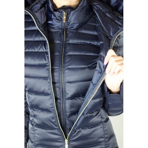 Armani Ea7 Mountain Shiny 2 Piece Womens Ski Jacket In Navy