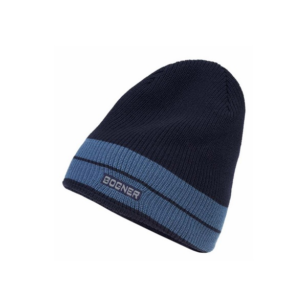 9330dcbf564 Bogner Bastian Mens Designer Ski Hat in Navy - Mens Bogner Hat
