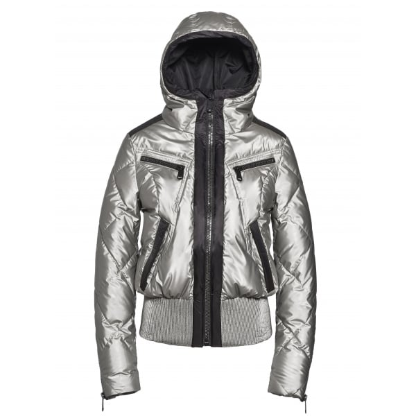 Goldbergh Ski Jacket - Goldbergh Henriette - Womens Silver ...