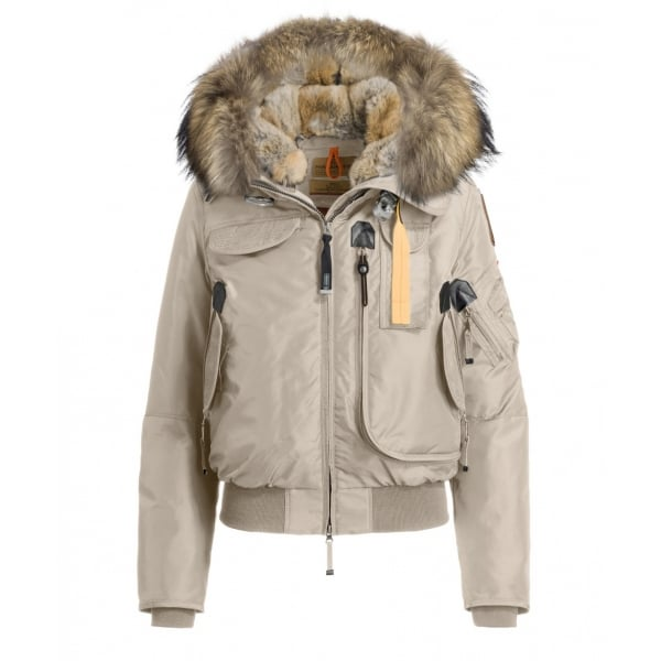 Parajumpers Gobi Womens Down Bomber Jacket in Cappuccino ...