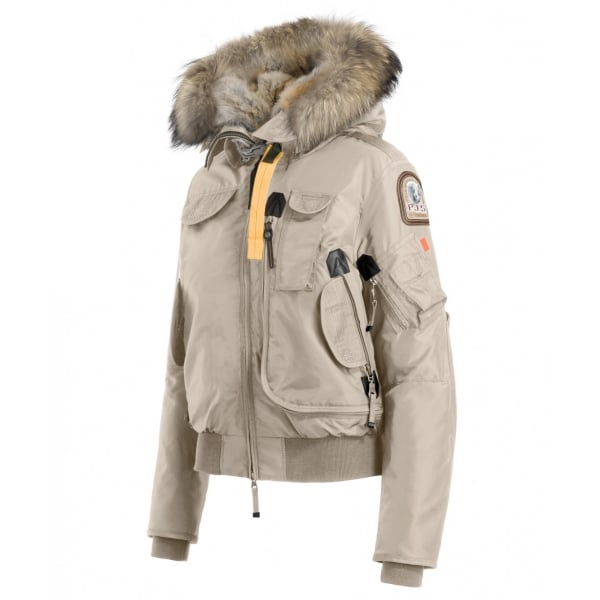 ... Parajumpers Gobi Womens Down Bomber Jacket in Cappuccino ...