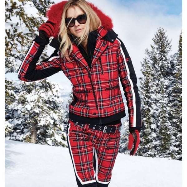 ... SOS Jacky Womens Ski Jacket in Racing Red Tartan. ‹ e00807a4f