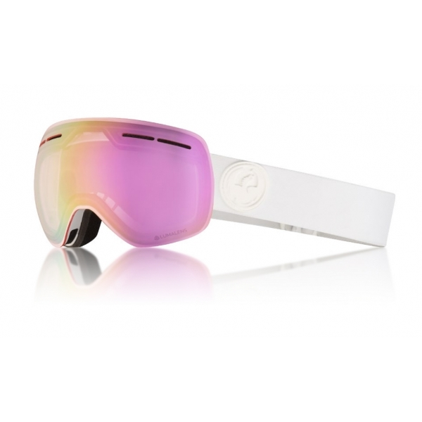 fb4d74aa60a Dragon Alliance Dragon X1s Ski Goggle in Whiteout with LumaLens Pink Ion