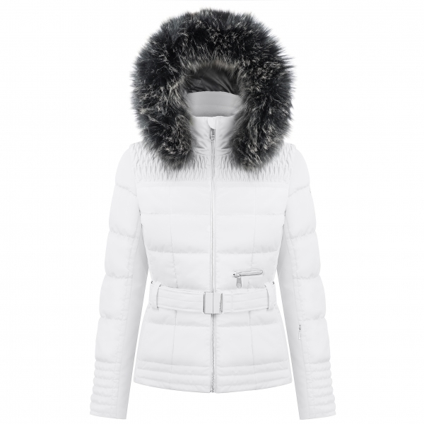 Poivre Blanc Belted Womens Ski Jacket in White ... 86ba4e1df