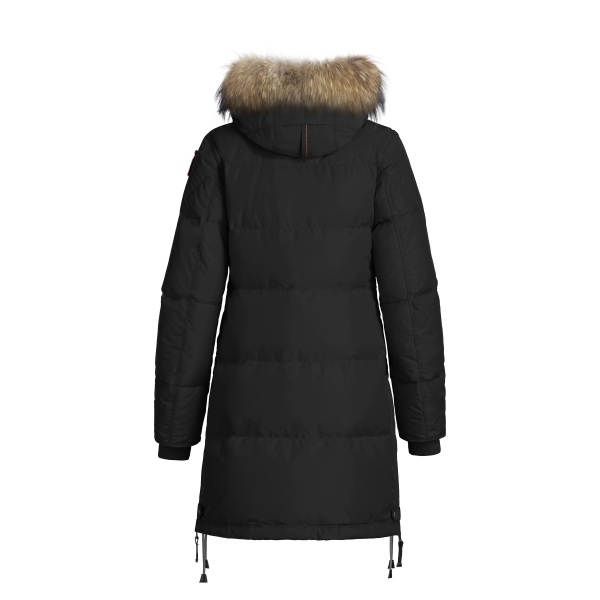 parajumpers long bear womens down winter coat in black. Black Bedroom Furniture Sets. Home Design Ideas