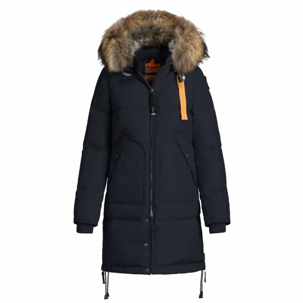 parajumpers long bear womens down winter coat in navy. Black Bedroom Furniture Sets. Home Design Ideas