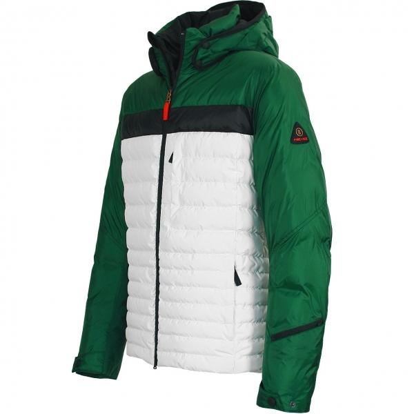 Bogner Nate D Mens Ski Jacket In Green And White
