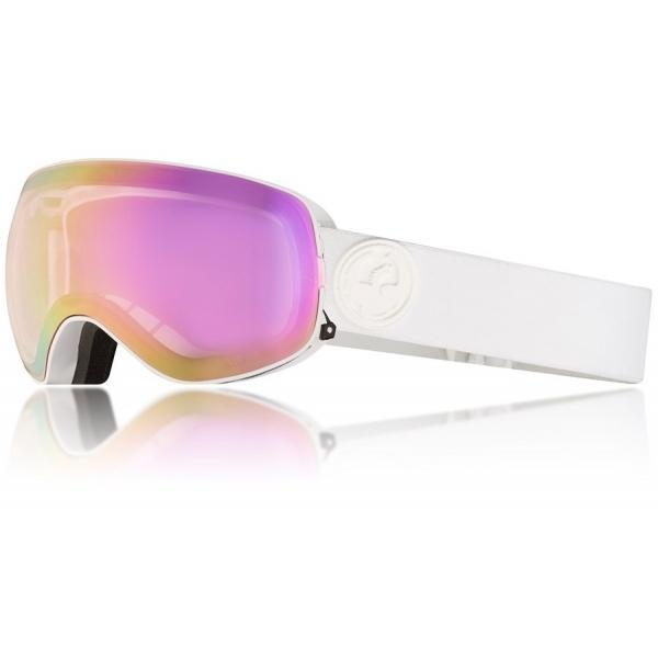 c4e5d210b20 Dragon Alliance Dragon X2s Ski Goggle in White Out with LumaLens Pink Ion  and Da