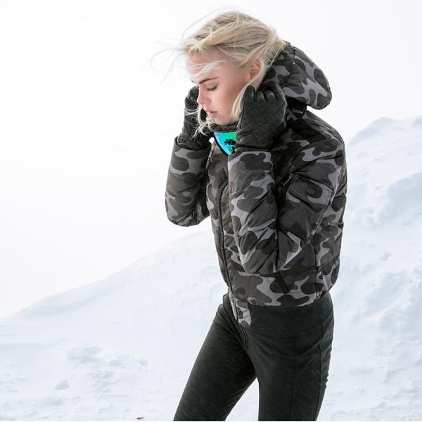 Goldbergh Katana Womens Designer Ski Jacket Camouflage