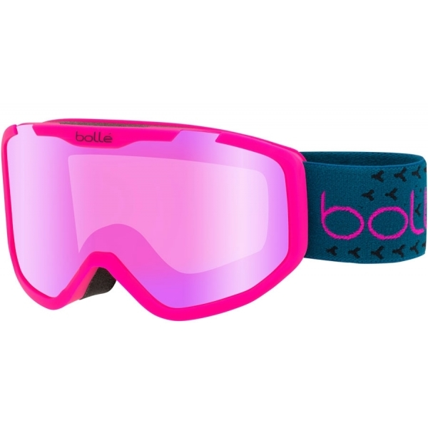 80ebb79219ad Bolle Rocket Plus Jr Ski Goggle Matte Pink and Blue With Rose Gold