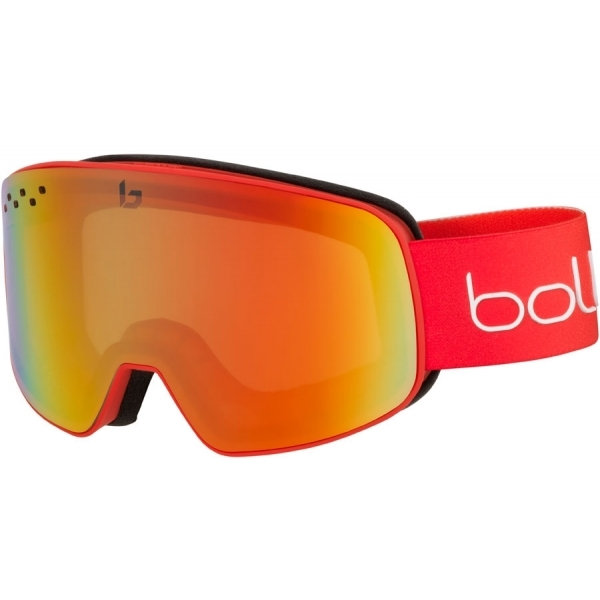 64b942beb798 Bolle Nevada Ski Google in Matte Red With Photo Fire Red