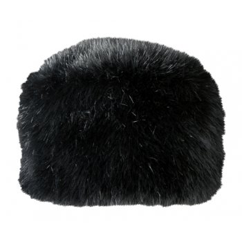 Barts Fur Josh Ski Hat in Black