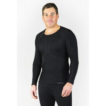 Falke Athletic Longsleeved Shirt Mens Ski Thermals in Black