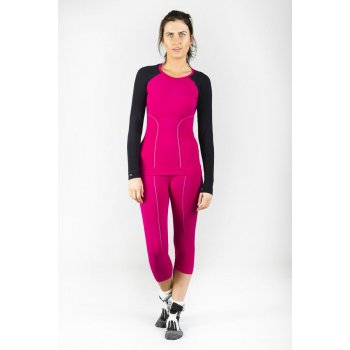 Falke Athletic 3/4 Tights Womens Ski Thermals in Berry