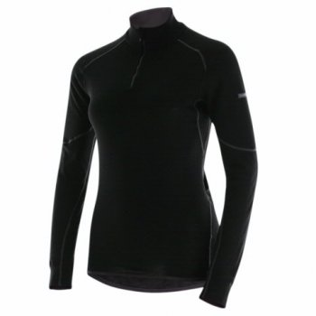 Odlo X-Warm 1/2 Zip Turtle Neck Womens Baselayer in Black