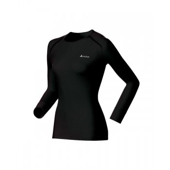 Odlo Warm Shirt L/S Crew Neck Womens Baselayer  in Black