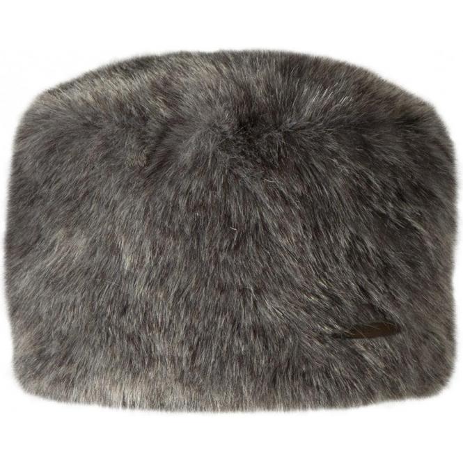 BARTS Fur Josh Ski Hat in Grey