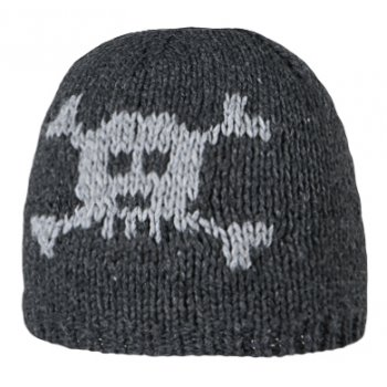 Barts Skull Beanie Kids Ski Hat in Dark Heather