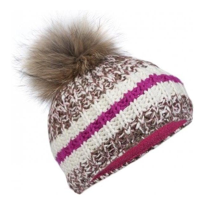 BOGNER Jutta Designer Ski Hat in Brown Multi