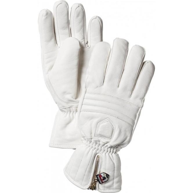 HESTRA SKI GLOVES Hestra Leather Swisswool Classic Ski Gloves in Ivory