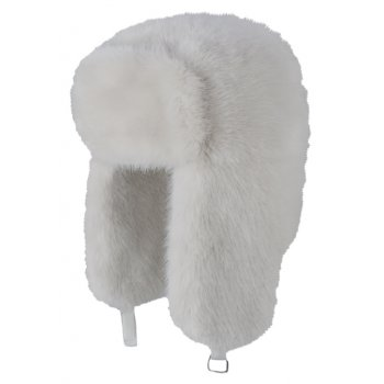Barts Fur Bomber Ski Hat in Off White